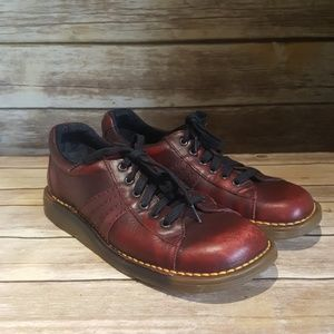 Dr. Martens Burgundy Red Lace Up Oxford Shoe